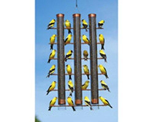 Songbird Essentials Copper Finish Finches Favorite 3 Tube Bird Feeder Se324c - 3 Tube Finch Feeder