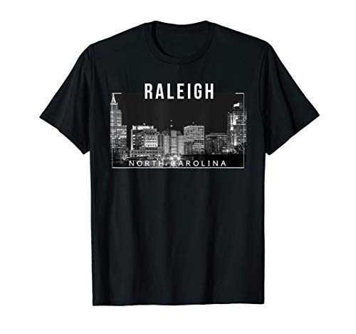 Raleigh North Carolina City of Oaks Skyline - -
