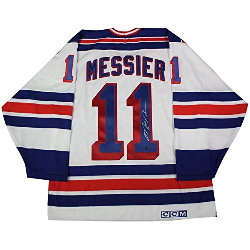 - Mark Messier New York Rangers Signed White CCM Jersey With Captains