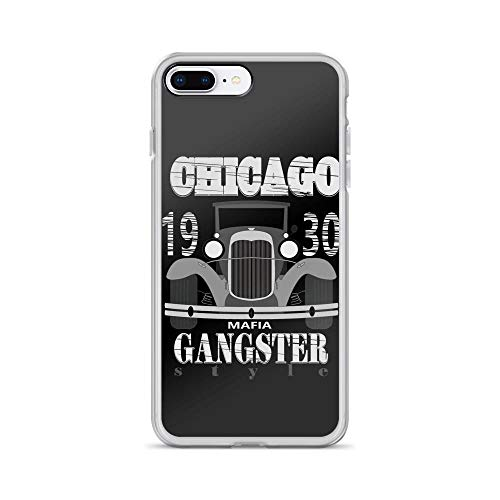 (iPhone 7 Plus/8 Plus Pure Clear Case Cases Cover Gangster T- 1930S Chicago)