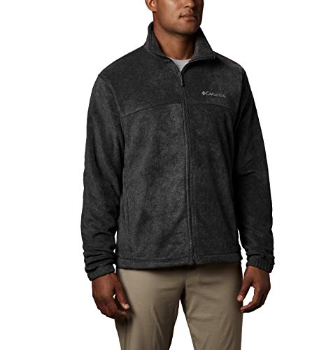 Columbia Men's Steens Mountain Full Zip 2.0, Soft Fleece with Classic Fit, Charcoal Heather, - Pullover Wool Zip