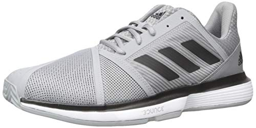 Tennis Adidas Racquets - adidas Men's CourtJam Bounce Tennis Shoe Grey/Black/White 7.5 M US