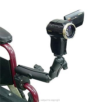Mayor barra de para silla de ruedas/tubo soporte y batería para cámara de vídeo de tuerca de rosca Base: Amazon.es: Electrónica