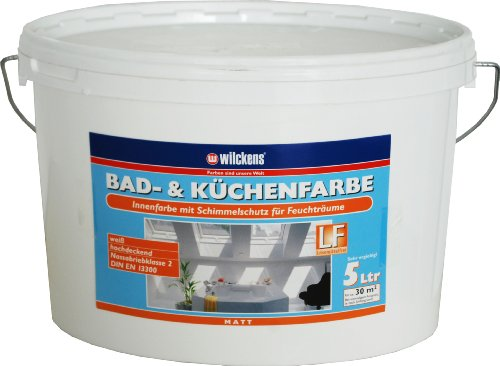 Wilckens Bad- und Küchenfarbe, 5 L, weiß 13490400090