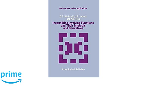 Inequalities Involving Functions and Their Integrals and ...