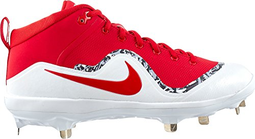 Nike Mens Force Air Trout 4 Pro Metal Baseball Cleats (11, Red/White)