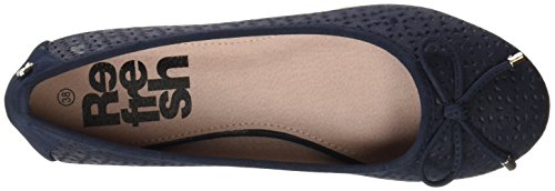 Refresh Women's 063304 Closed Toe Ballet Flats Blue (Navy Navy) fN45a