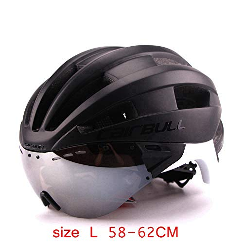 - Likoe_US Bicycle Helmet with Sunglasses Integrally Molded Men Women Mountain Road Bike Cycling Goggles Helmet