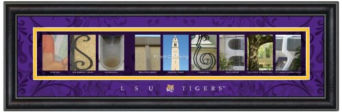 Prints Charming Letter Art Framed Print, Louisiana State University Baton Rouge-Lsu Tigers, Bold Color - Rouge Mall Baton