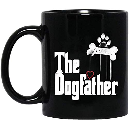 The DogFather Dad Dog Funny Black Coffee Mug Father's for sale  Delivered anywhere in USA