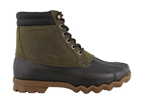 Sperry Top-Sider Men's Brewster Rain Boot, Dark Olive, 9 Medium US