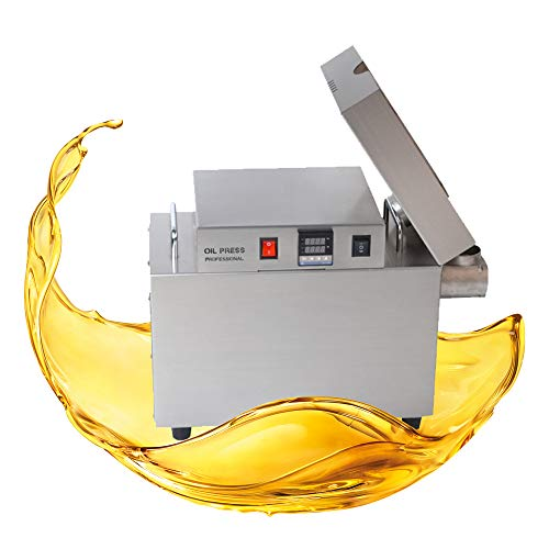 TOAUTO Automatic Oil Press Machine Electric Commercial Oil Presser 1500W Household Kitchen Oil Extractor Peanut Nuts Walnut Linseed Sesame10-15 KG/Hour 220V US STOCK