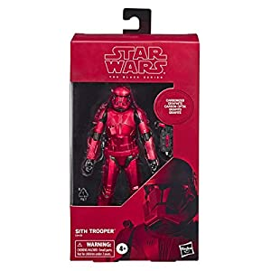 "Star Wars The Black Series Carbonized Collection Sith Trooper Toy 6"" Scale The Rise of Skywalker Action Figure (Amazon Exclusive)"