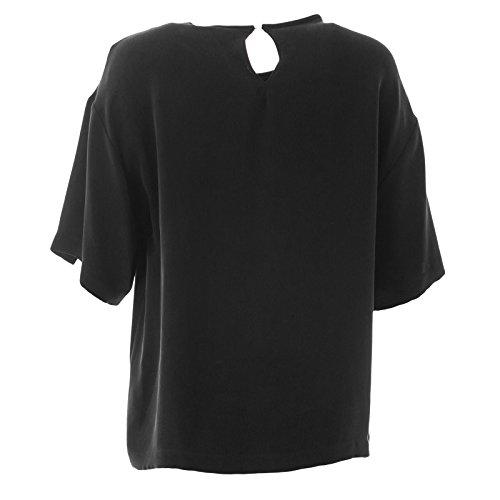 Max Mara Women's Finezza Oversized Silk Top Sz 10 Black by MaxMara (Image #1)