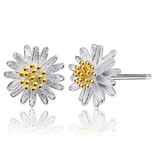 Stud Earrings, Muranba 1Pair Daisy Flower Earrings Ear Stud Jewelry For Women