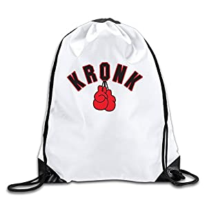 Runy Custom Adonis Stevenson Kronk Adjustable String Gym Backpack White