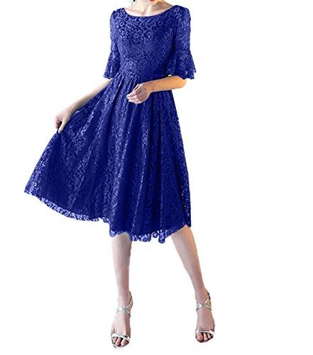 Kleider A Abendkleider Royal Spitze Charmant Damen Jugendweihe Linie Langarm Lang Festlichkleider Partykleider Blau Knielang tv0wgv