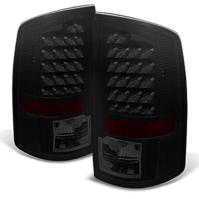 Black Smoke 02-06 Dodge Ram 1500 03-06 Ram 2500 3500 Pickup Truck LED Tail Lights Pair Replacement