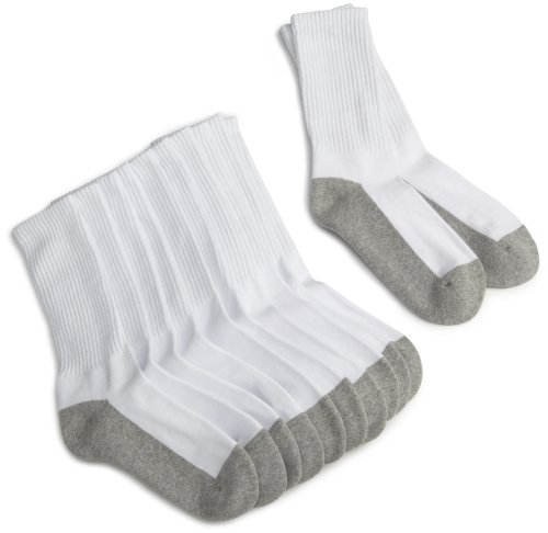 Jefferies Socks Boys Little Seamless Half Cushion Sport Crew Socks 6 Pair Pack