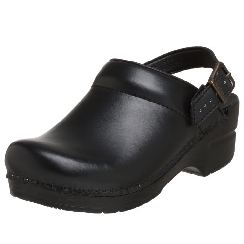 Dansko Women's Ingrid Box Leather Clog,Black,39 EU / 8.5-9 M US by Dansko