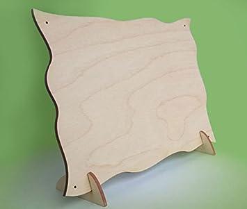 Puerta de la placa de madera de 17,3 x 13 cm (0,3 cm de ...