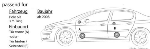 JVC CS-J620-16cm Koaxe f/ür VW Polo 6R Lautsprecher JUST SOUND best choice for caraudio