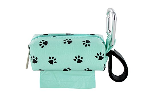 - Doggie Walk Bags DB1-SEASQP Square Duffel Paw Print Bag, Seafoam