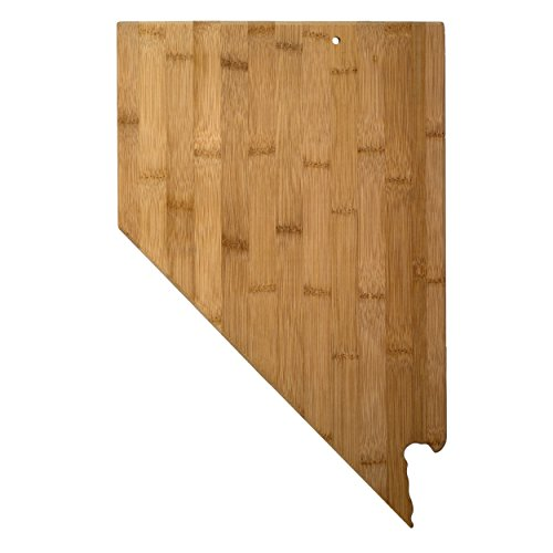 (Totally Bamboo 20-7974NV Nevada State Shaped Bamboo Serving & Cutting Board )