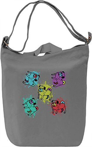 Colourful Bulldogs Borsa Giornaliera Canvas Canvas Day Bag| 100% Premium Cotton Canvas| DTG Printing|