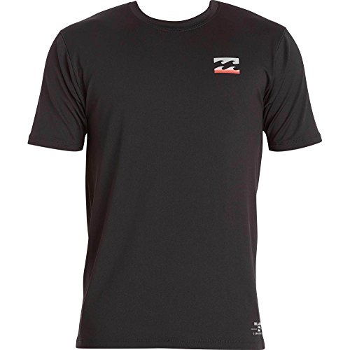 Billabong Men's Submersible Loose Fit Short Sleeve Rashguard, Black, Medium