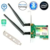 Ubit Wireless Network Card,8260 Wireless Network Card Bluetooth 4.2,Dual-Band 5Ghz-867Mbps/2.4Ghz-300Mbps,Pci-e Wireless WI-FI Adapter