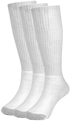 Galiva Boys' Cotton Extra Soft Over the Calf Cushion Socks - 3 Pairs, Small, White