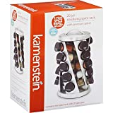 Kamenstein 20 Jar Revolving Spice Rack with 5 Year Free Spice Refill Included