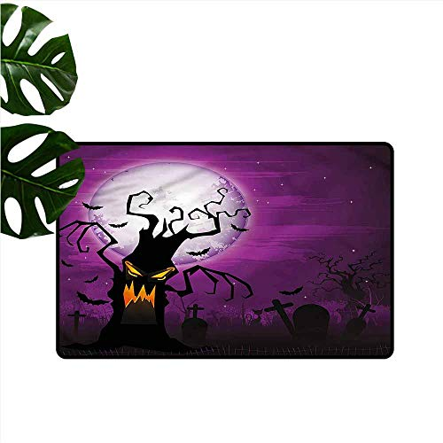 DUCKIL Entrance Door mat Halloween Human Face and Twiggy Arm Antifouling W24 xL35 for $<!--$31.30-->