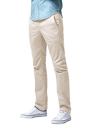 Match Men's Slim Fit Straight Leg Casual Pants (32, 8036 Pale Pinkish)