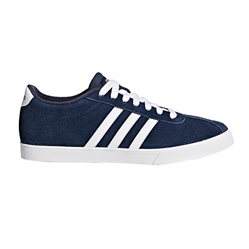- adidas Women's Shoes | Courtset Sneakers, Collegiate Navy/White/Metallic Gold, (8 M US)