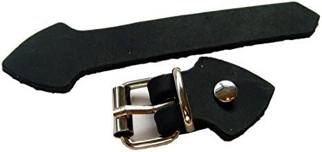 Lederriemen Set mit Schnalle Silber Nieten 5 Pack zum selber basteln 20mm Farbe Schwarz