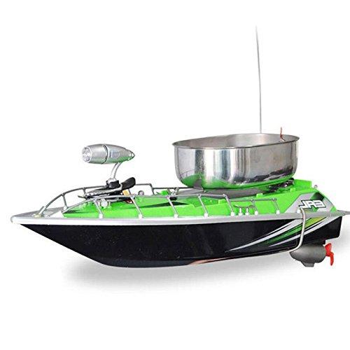Forfar 1 Pieza Mini Barco inalámbrico Mando a Distancia señuelo plástico Acero Inoxidable Radio Pesca Gear Buscando río...