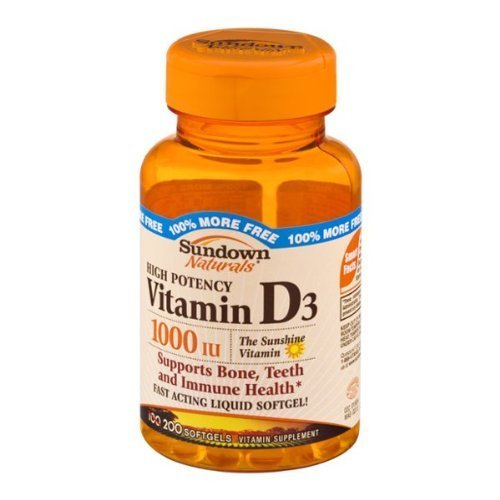 Sundown Naturals High Potency Vitamin D3 - 200 ct