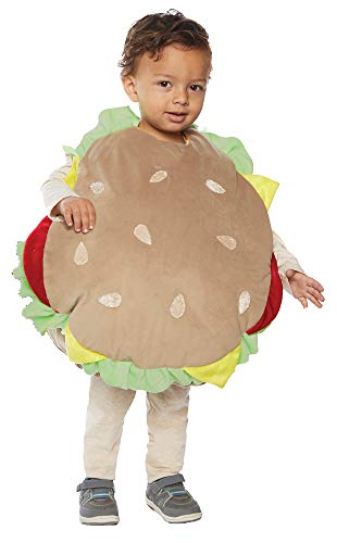 Underwraps Kid's Toddler's Plush Hamburger Belly Babies Costume Childrens Costume, Multi, Extra ()