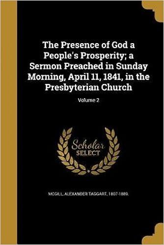 The Presence of God a People's Prosperity