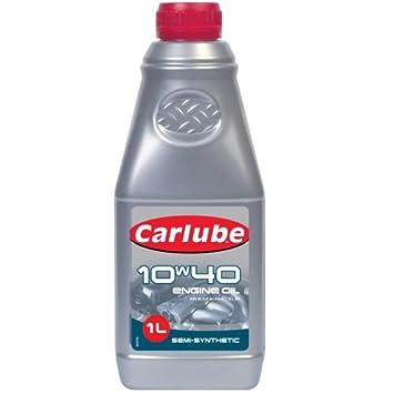 Carlube 10 W-40 Semi sintético 10 W40 Turbo gasolina/diesel aceite de motor 1liter xaj010: Amazon.es: Coche y moto