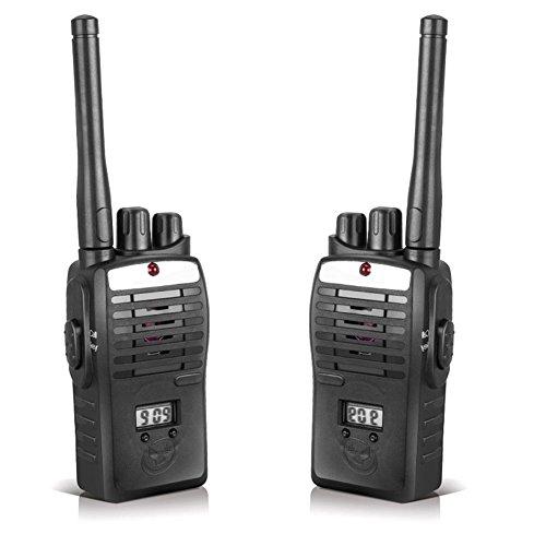 Walkie talkies enfants - Dxlta 2 pcs Radios bidirectionnelles Jouets pour enfants Longue portée portable Walkies Talkie Noir