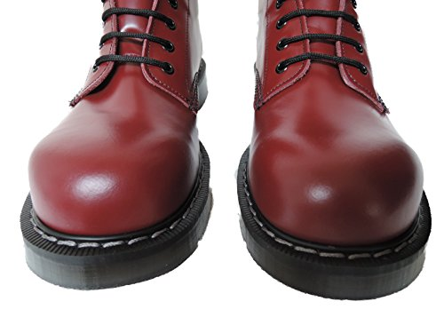 Hand Toe Eye Cherry NPS Made Men´s Steel Solovair Red England 20 Boots in SEqAqxf