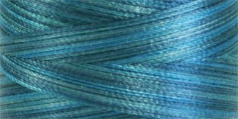 Superior Threads - Variegated Trilobal Polyester Sewing Thread for Quilting, Decorative Stitching, and Embroidery, Fantastico #5119 Mixed Turquoise, 2,000 Yds.