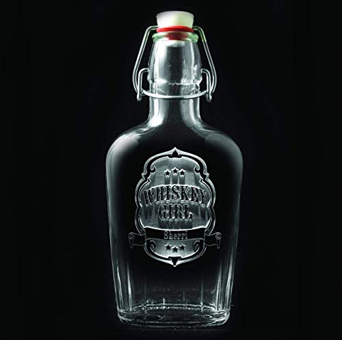 Whiskey Girl Flask, Engraved Flask, Scotch, Bourbon, used for sale  Delivered anywhere in USA