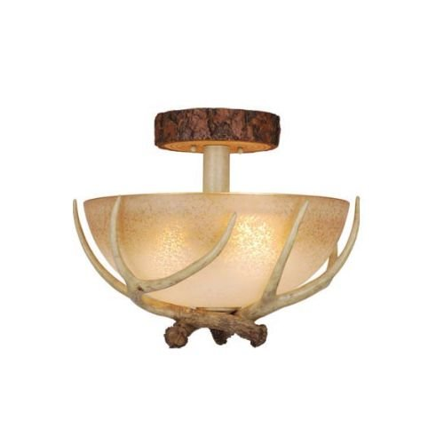 Cheap Vaxcel CF33016NS Lodge Semi-Flush Mount, 16″, Noachian Stone Finish