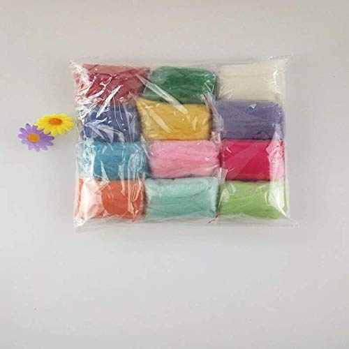 45 Colors Needle Package for Craft Wool Making Felting Wool Fibre Roving DIY Hand Spinning Fiber Wool 36//45 Colors DIY Handmade Craft Kit