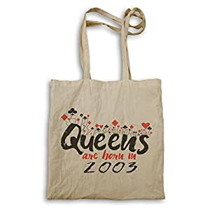 Queens are born in 2003 Tote bag d218r