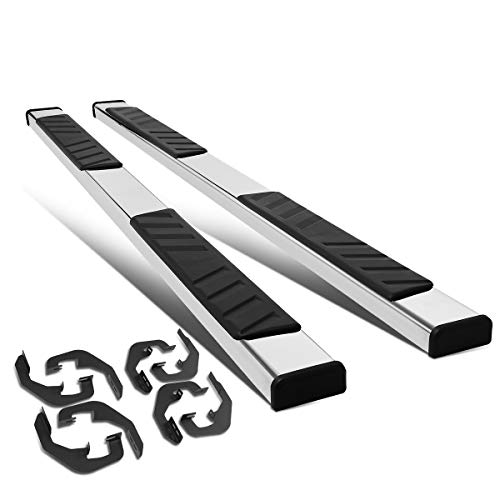 Pair 5 inches Stainless Steel Side Step Bar Running Boards for Chevy Silverado/GMC Sierra Crew Cab 07-19